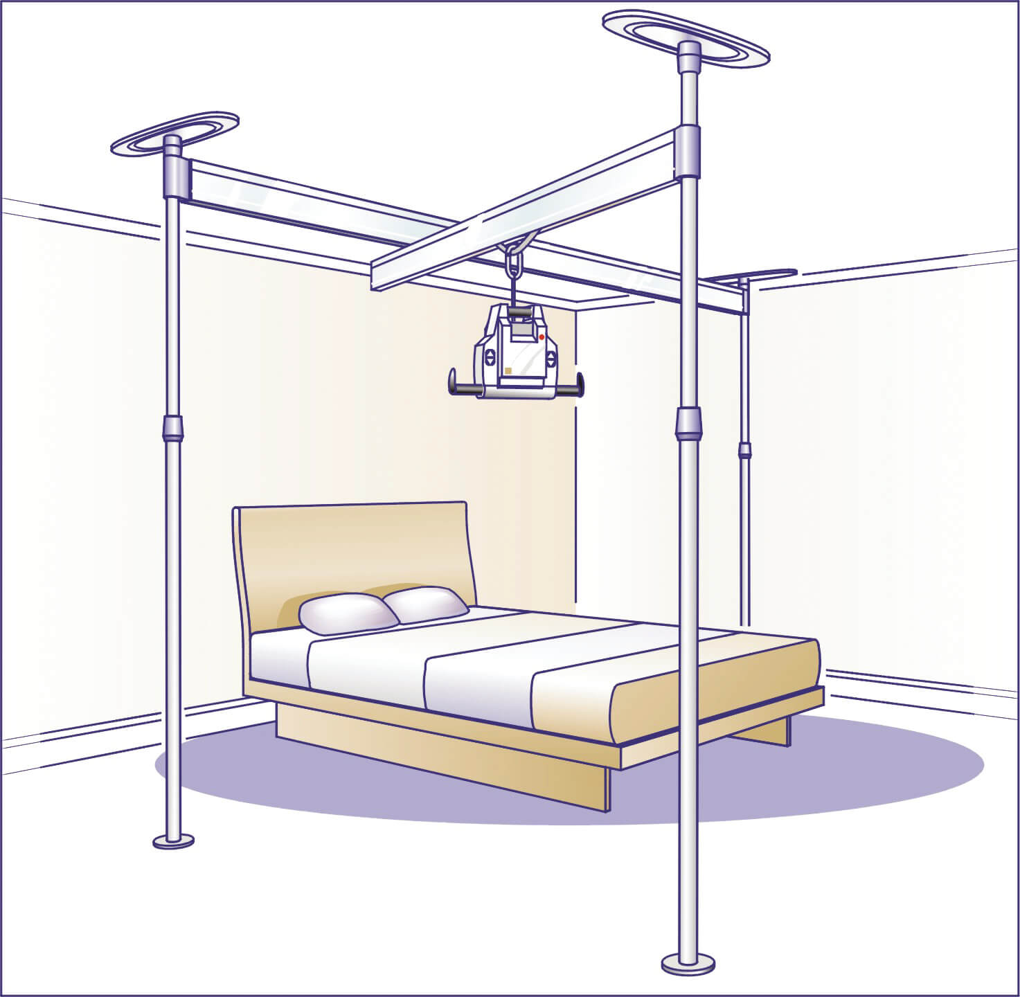 890A036 3 post A-deckenlifter-voyager-portable