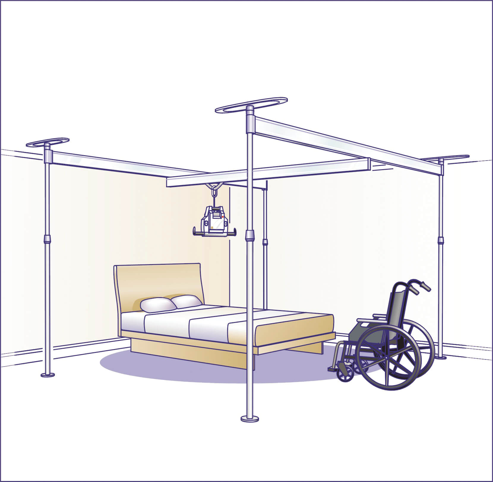 890A037 4 post A-deckenlifter-voyager-portable